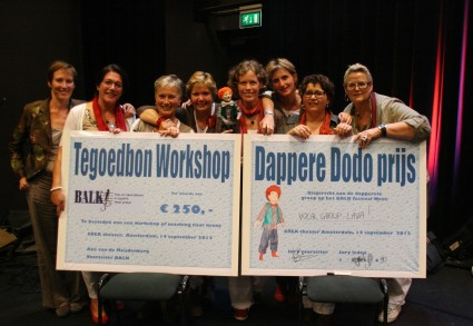 Vocal Group Lava, winnaars van de Dappere Dodo