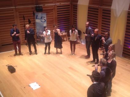 The Real Group met The Swingle Singers - foto: Annemarie Homan