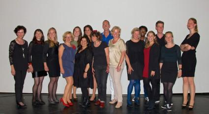 Alle examenkandidaten op een rij - foto: Annemieke Visscher