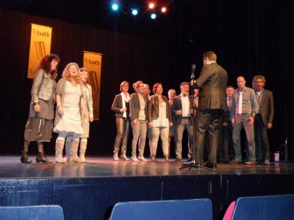 De winnende groep: Collage uit Dokkum