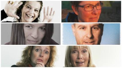 De docenten: Tessa, Oda, Panda, Maarten, Marlous en Eva