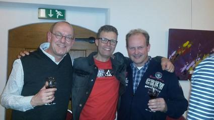 Dienstmaten Peter Klut, Ron Bleeker en Jaap de Vries