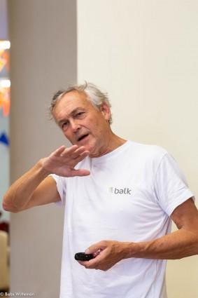 Tijdens mijn presentatie (foto: Babs Witteman)