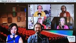 Emily van Orsouw en Sander Gieling presenteerden Vocaal Digitaal